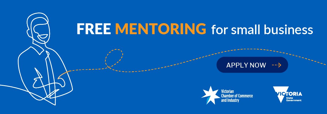 Blue graphic for business mentoring service